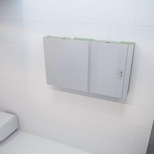 CUBB spiegelkast 120x70x16cm kleur army met 2 deuren