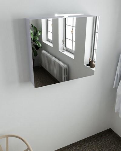 CUBB spiegelkast 80x70x17cm kleur cale met 2 deuren