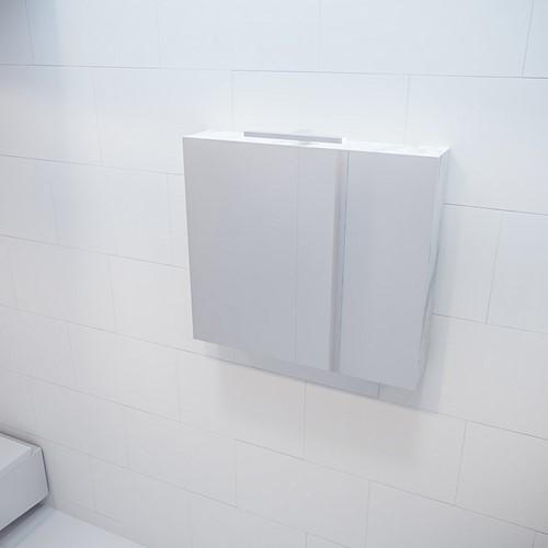 CUBB spiegelkast 80x70x16cm kleur carrara met 2 deuren