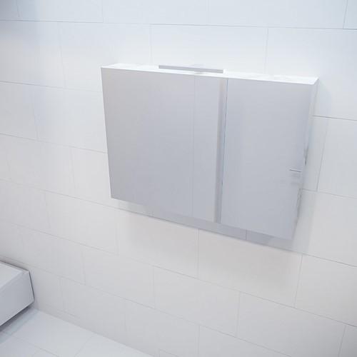 CUBB spiegelkast 100x70x16cm kleur carrara met 2 deuren