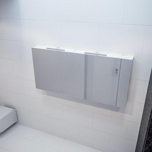 CUBB spiegelkast 150x70x16cm kleur carrara met 3 deuren