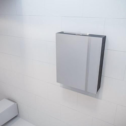 CUBB spiegelkast 60x70x16cm kleur dark brown met 1 deur
