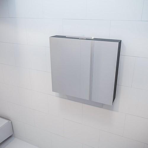 CUBB spiegelkast 80x70x16cm kleur dark brown met 2 deuren