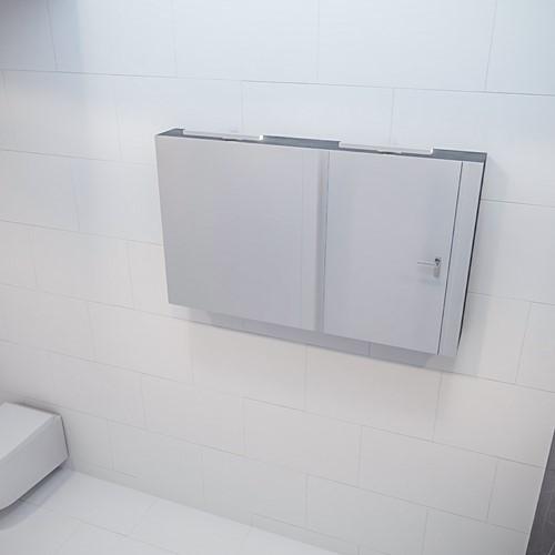 CUBB spiegelkast 120x70x16cm kleur dark brown met 2 deuren