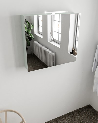 CUBB spiegelkast 80x70x17cm kleur greey met 2 deuren