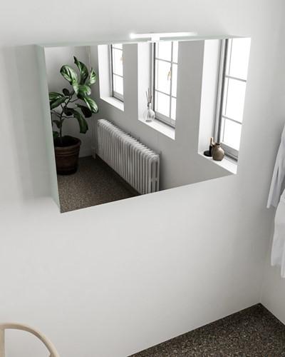 CUBB spiegelkast 100x70x18cm kleur greey met 2 deuren