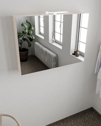 CUBB spiegelkast 100x70x18cm kleur linen met 2 deuren