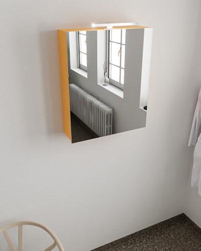 CUBB spiegelkast 60x70x16cm kleur ocher met 1 deur