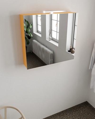 CUBB spiegelkast 80x70x17cm kleur ocher met 2 deuren