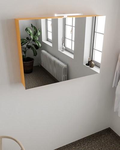 CUBB spiegelkast 100x70x18cm kleur ocher met 2 deuren