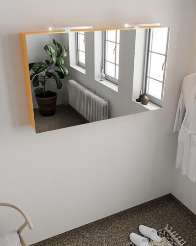 CUBB spiegelkast 120x70x16cm kleur ocher met 2 deuren