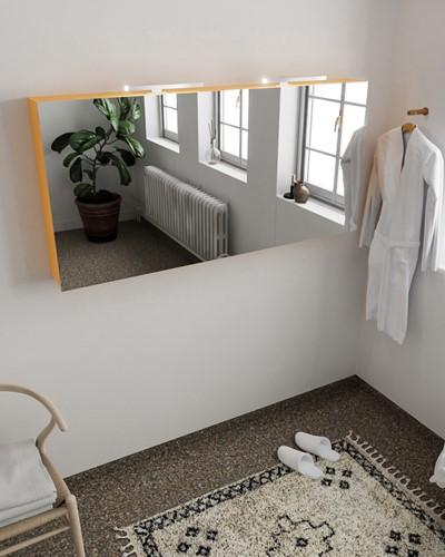 CUBB spiegelkast 150x70x16cm kleur ocher met 3 deuren