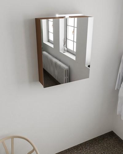 CUBB spiegelkast 60x70x16cm kleur rust met 1 deur