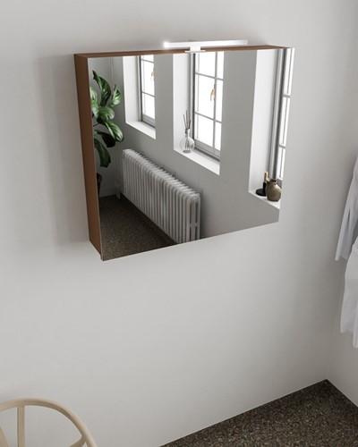 CUBB spiegelkast 80x70x17cm kleur rust met 2 deuren