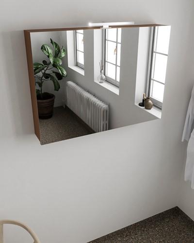 CUBB spiegelkast 100x70x18cm kleur rust met 2 deuren