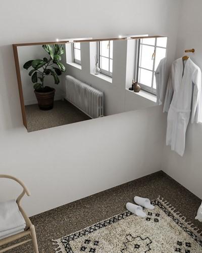 CUBB spiegelkast 150x70x16cm kleur rust met 3 deuren
