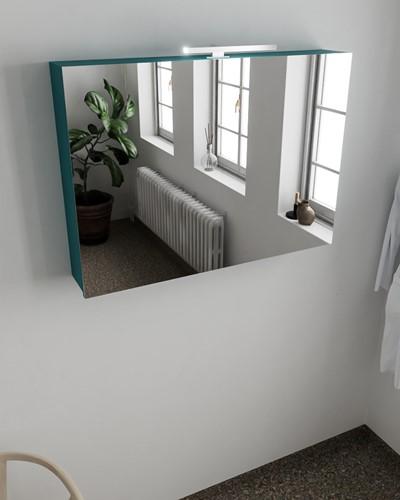 CUBB spiegelkast 100x70x18cm kleur smag met 2 deuren