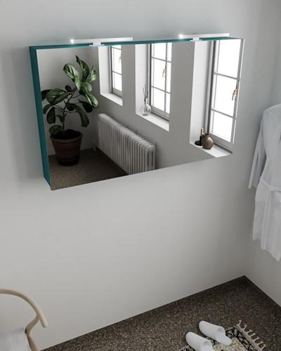 CUBB spiegelkast 120x70x16cm kleur smag met 2 deuren