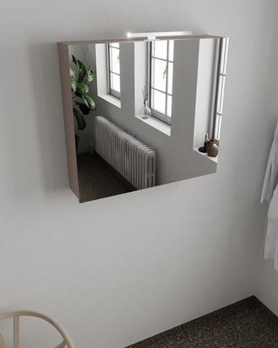 CUBB spiegelkast 80x70x17cm kleur smoke met 2 deuren