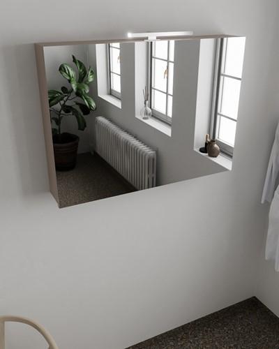 CUBB spiegelkast 100x70x18cm kleur smoke met 2 deuren
