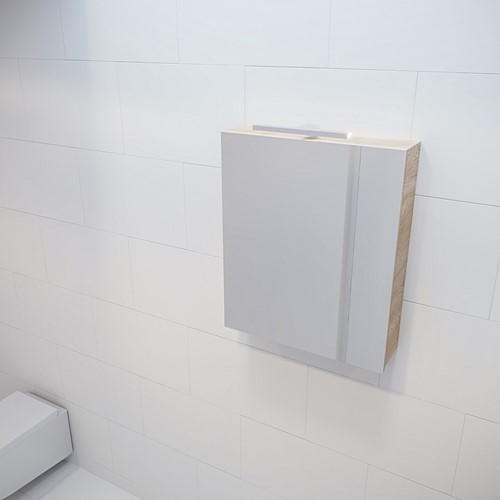 CUBB spiegelkast 60x70x16cm kleur washed oak met 1 deur