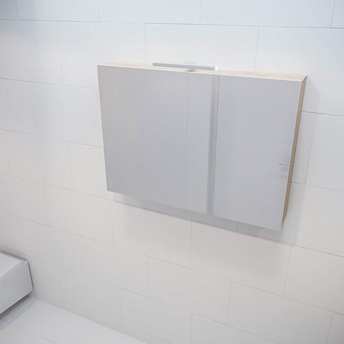 CUBB spiegelkast 100x70x16cm kleur washed oak met 2 deuren