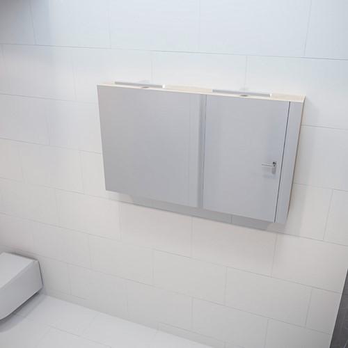 CUBB spiegelkast 120x70x16cm kleur washed oak met 2 deuren