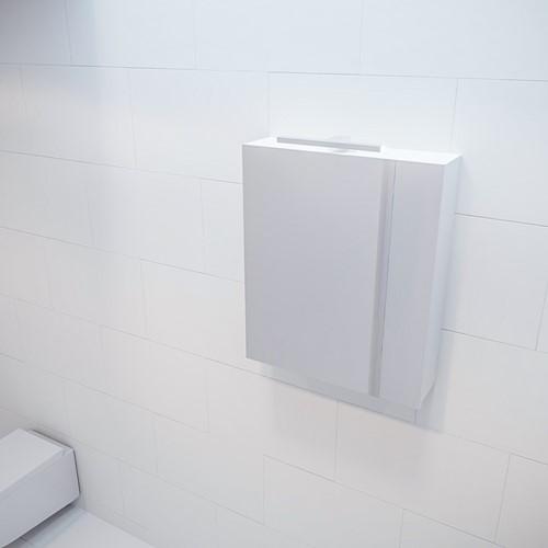 CUBB spiegelkast 60x70x16cm kleur talc met 1 deur