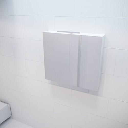 CUBB spiegelkast 80x70x16cm kleur talc met 2 deuren