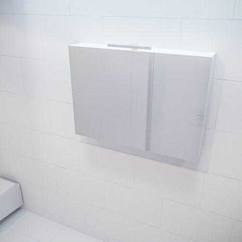 CUBB spiegelkast 100x70x16cm kleur talc met 2 deuren
