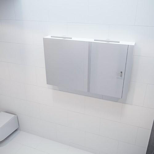 CUBB spiegelkast 120x70x16cm kleur talc met 2 deuren