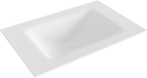 CLOUD Talc solid surface inbouw wastafel 71cm Positie wasbak midden