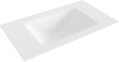 CLOUD Talc solid surface inbouw wastafel 80cm Positie wasbak midden