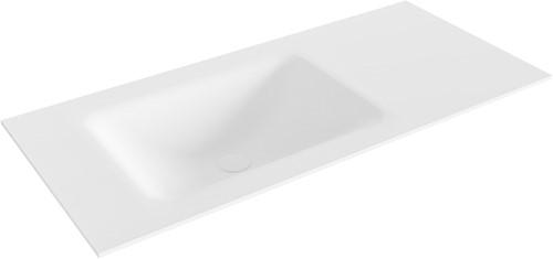 CLOUD Talc solid surface inbouw wastafel 101cm Positie wasbak links