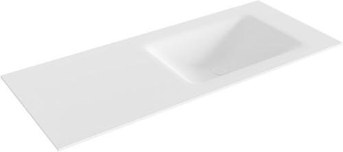 CLOUD Talc solid surface inbouw wastafel 111cm Positie wasbak rechts