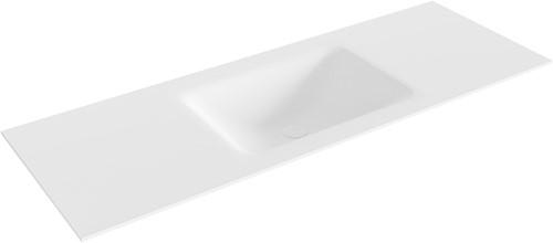 CLOUD Talc solid surface inbouw wastafel 130cm Positie wasbak midden