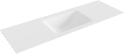 CLOUD Talc solid surface inbouw wastafel 140cm Positie wasbak midden
