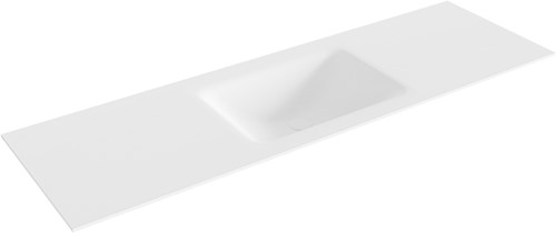 CLOUD Talc solid surface inbouw wastafel 150cm Positie wasbak midden