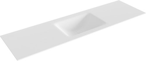 CLOUD Talc solid surface inbouw wastafel 160cm Positie wasbak midden