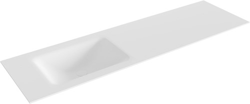 CLOUD Talc solid surface inbouw wastafel 161cm Positie wasbak links