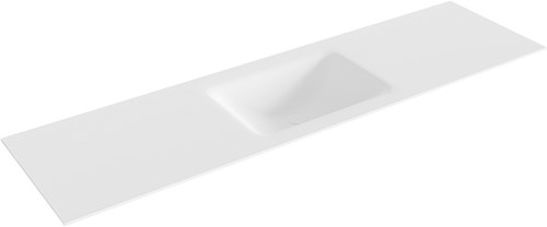 CLOUD Talc solid surface inbouw wastafel 171cm Positie wasbak midden