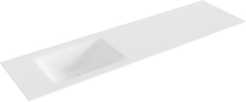 CLOUD Talc solid surface inbouw wastafel 170cm Positie wasbak links