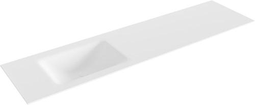 CLOUD Talc solid surface inbouw wastafel 180cm Positie wasbak links
