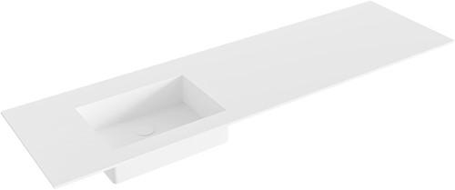 EDGE Talc solid surface inbouw wastafel 161cm Positie wasbak links