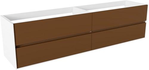 FINE badmeubel onderkast  200cm 4 lades in de kleur Rust