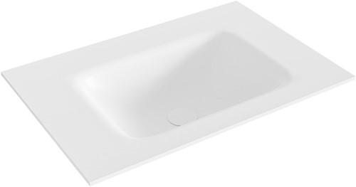 GRUNNE Talc solid surface inbouw wastafel 60cm Positie wasbak midden