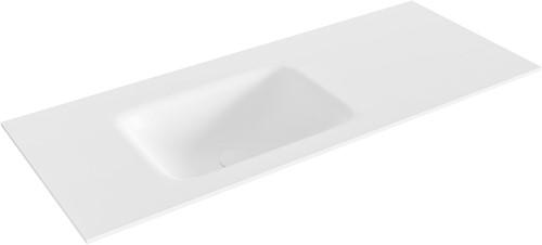 GRUNNE Talc solid surface inbouw wastafel 101cm Positie wasbak links