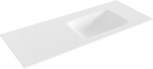 GRUNNE Talc solid surface inbouw wastafel 101cm rechts