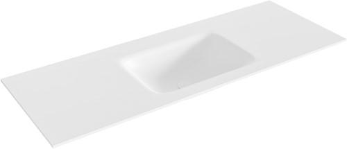 GRUNNE Talc solid surface inbouw wastafel 111cm midden