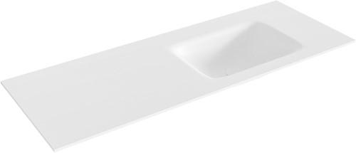 GRUNNE Talc solid surface inbouw wastafel 110cm rechts